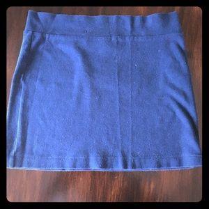 Navy Blue Forever 21 Basic Mini Skirt